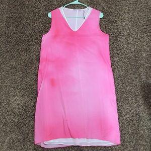 New pretty tie-dye ombré pink Tahari dress
